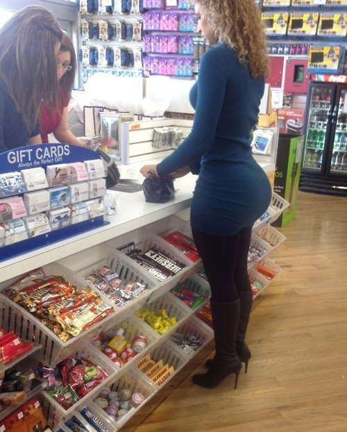 "scatter-my-dreams:  Sexy Backshots  ""The Corner Store Whooty""  The kind that make you pull out the ole phone and a snap a quick shot.   Follow me @ http://www.scatter-my-dreams.tumblr.com for the sexiest women, juiciest asses and the biggest tits."