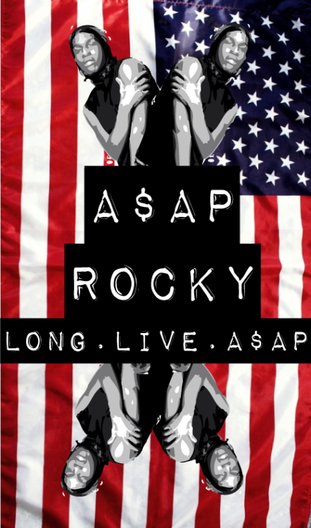alchemyintheveins:  I did a quick pic 4 A$AP after peepin the leak. Dig it, impressed. DL the leak, pre-order, buy the hardcopy. Real shit.  Countin days !