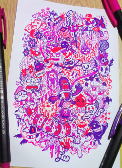 Spontaneous colored doodling by iamleight.tumblr