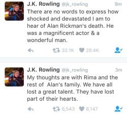 tweets JK Rowling alan rickman