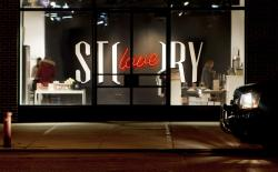 "Identity / logo design for ""Story"", a store in the meatpacking district of NYC that changes themes every six weeks. (via Story - Work - Sagmeister & Walsh)"