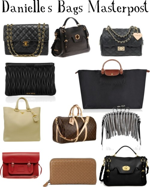 1dgirlfriendstylized:  ALL of Danielle's Bags by lilylei    The only thing not here is Danielle's ClaireaBella Bag! ~ Lei x