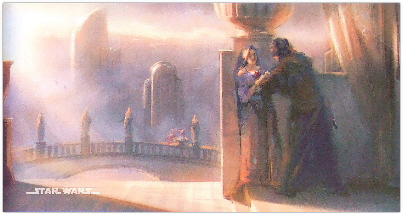 Anakin And Padme The Gallery Concept Art Padme S Apartment From Revenge Of