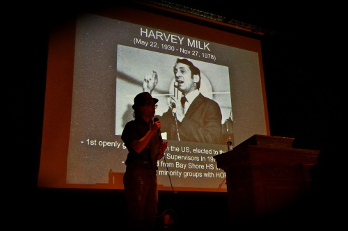 Speaking about my hero, Harvey Milk - who graduated from my HS. :)
