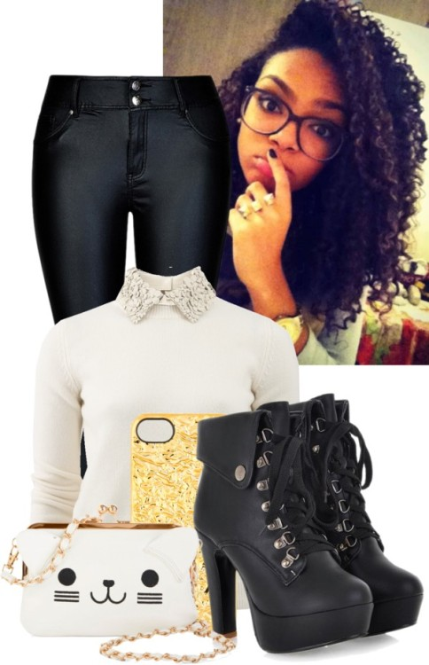 #86 by imqueenzolanski featuring MARC BY MARC JACOBSValentino ribbed sweater / Stretch denim skinny jeans / Lace up heel booties / KLING white crossbody purse / MARC BY MARC JACOBS tech accessory