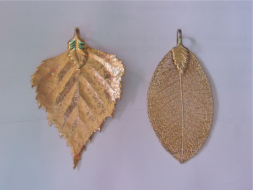 Leaves of GoldThese gold-dipped leaf pendants are like catnip to me. Whenever I see one at a thrift shop or…View Post