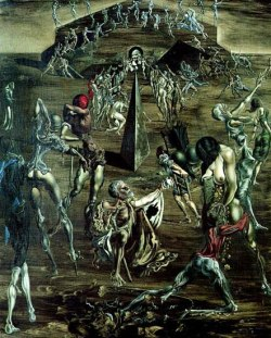 blackpaint20:  Resurrection of the Flesh by Salvador Dali 1904 ~ 1989