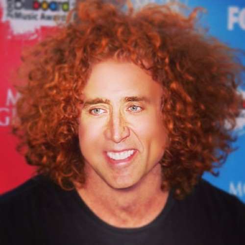 Carrot Cage, Nick Top #nickcage #carrottop #god