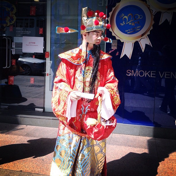 The King #hk #hk #hongkong #street #streetphoto_color #costume #chinese #tradition