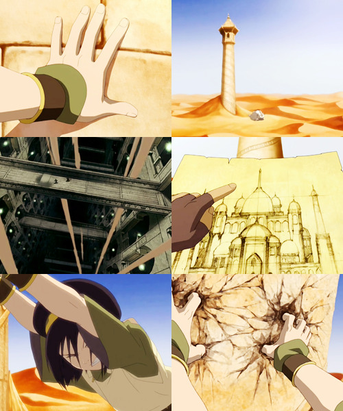 Reminder: Toph held the entire library up by herself.