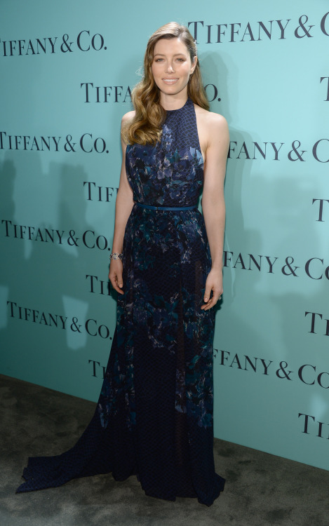 Jessica Biel - Tiffany & Co. Blue Book Ball in NYC 4/18/13
