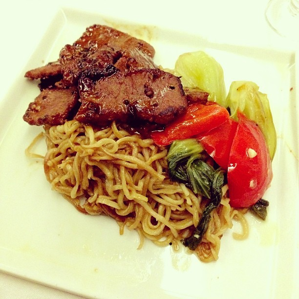 #lamb #kongpow #noodles - #businessclass #singaporeairlines #travel #food