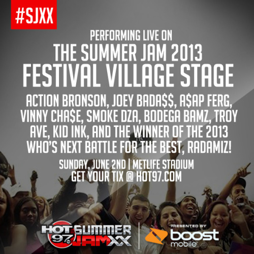 This is the show before the show.  2pm on Sunday, June 2nd.  Main stage starts at 6pm.