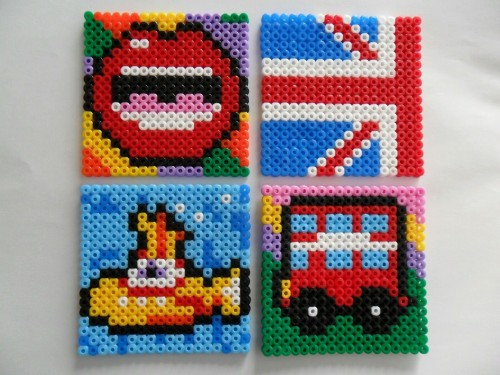 Brit Coasters - Hama Beads