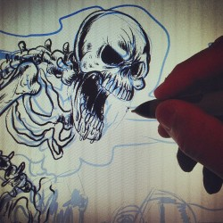 fistfulapparel:  Digital Inking  (at Thunderdome)