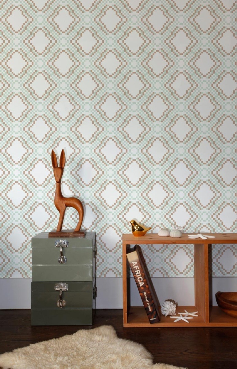 Ikat Pixel wallpaper by Aimée Wilder
