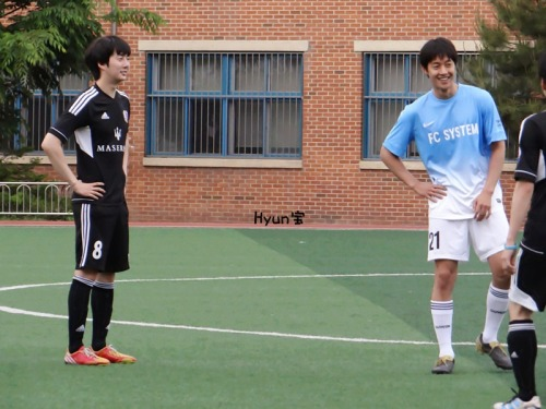 kimhyunjoong0606:  Kim Hyun Joong at soccer match (13.05.19) Credit : as tagged