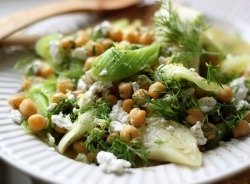 prettybalanced:  Lemony Leeks with Chickpeas and Feta