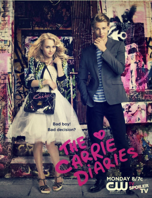 "kristatiglao:  Series Review: The Carrie Diaries Rating: 4.5 out of 5 I'm a bit late on this but I'm glad I finally had the chance to watch it. The story revolves on the life of Carrie Bradshaw, a stylish 80's teenager/writer who got the chance to be an intern in a law office in the fabulous New York City.  To be honest, I really fell in love with the plot considering that she wanted to be a writer and God knows how I want to be one as well.Also, she had this dream of having her work published on the Interview Magazine and I also have the same dream,only, it's to have my works published on Candy.  Carrie has a strong personality and that's what I loved most about her. Even though she was really head-over-heels with her love interest, Sebastian Kydd, she never allowed her feelings to overpower her. She was optimistic and lively that I almost thought it was real life. Still, there was one thing I didn't really like because if not I would have given it a 5/5. I didn't like how her friend, Maggie, treated sex like a candy you can give to anyone. Overall, her character was weak and I know a series or a movie or even a book is not complete without these kind of characters but I really disliked the way she ruined her friend's happiness just to satisfy her cravings. I'm spoiling you so I should stop. I'll just share with you a quote from Carrie that I really like. ""I love you so much my heart hurts. Is that what love's supposed to feel like? Pain?"""