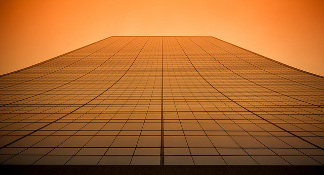 "9 West 57th on Flickr.Via Flickr: Looking up from the building's north side, treated with a ""CSI"" preset for Lightroom."