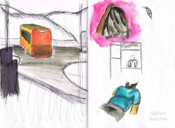 Two-A-Days | Meadly Left: A ride on the bus one day Right: Little sketches from around HK