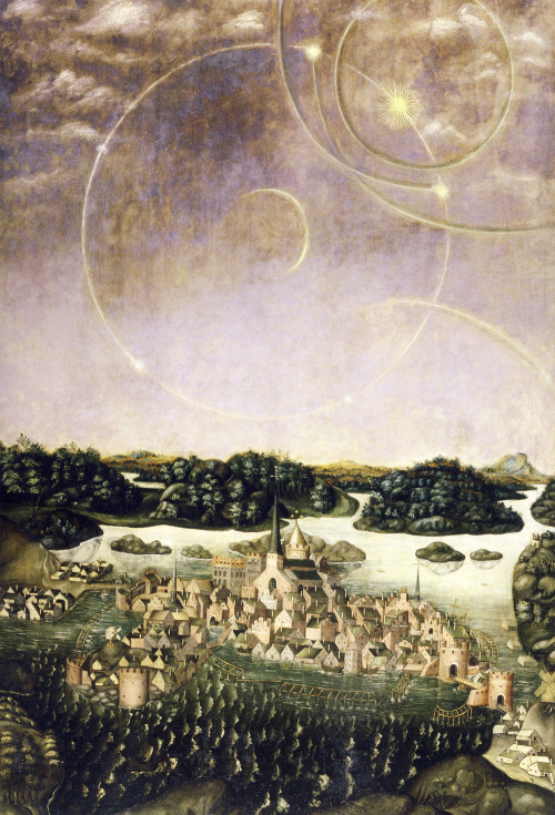 likeafieldmouse:  Jacobs Heinrich Elbfas - Astral Phenomena in the Sky over Stockholm (1636)