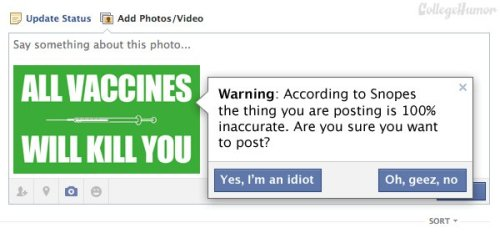 collegehumor:  Simple Ways to Improve 7 Popular Websites Facebook — Snopes Filter