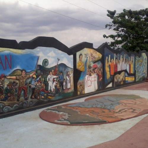 Colorful murals signifying the history and progress of Ilagan City. Shooting for Travelife TV  Living the Travelife. #isabela #philippines