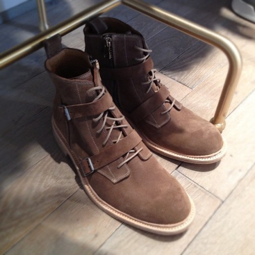 @balmain strap suede boots for fall 2013. #pfw