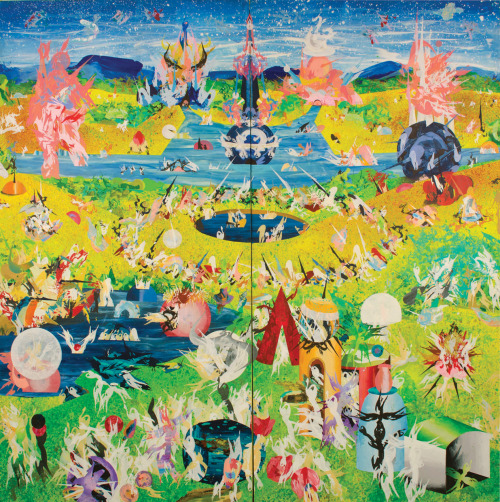 Korakrit Arunanondchai, Garden of Earthly Delights, 2010. Acrylic on canvas. 8 x 8'. Image courtesy the artist. Arunanondchai currently participates in SculptureCenter's 2012-2013 In Practice program, culminating in an exhibition of new work. Double Life opens at SculptureCenter on January 13, 5-7PM and runs through March 25.