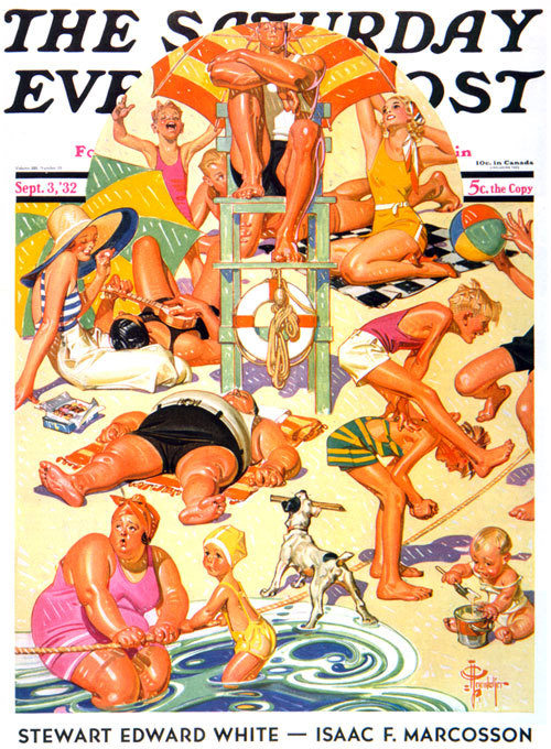 JC Leyendecker cover illustration, Saturday Evening Post, Sept. 1932.