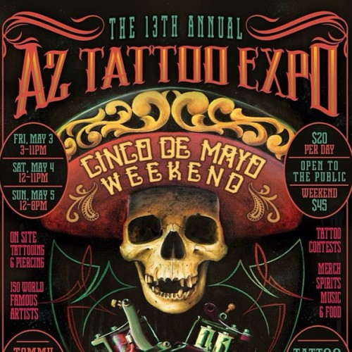 This Cinco de Mayo weekend, Phx area friends I will be attending the AZ TATTOO EXPO! Come say hi and get a sweet tattoo! #Mesatattooexpo #tattoo #henrytattooer #4forty4tattoo
