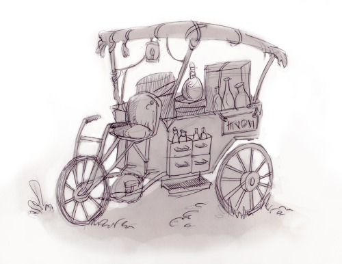 Cart sketch for the GDC 2013 game That Dragon, Cancer : http://thatdragoncancer.com/