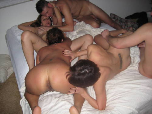 Amateur group sex cum