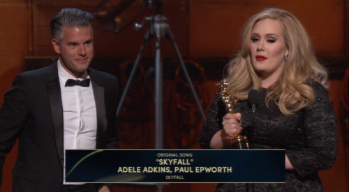 YES!!!! Adele wins for Skyfall!!!
