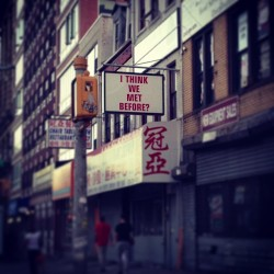 I think we met before? #signs #nyc #bowery #cool