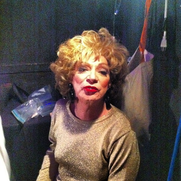 caseyspooner:  In the dressing room with HOLLY WOODLAWN  This is what an icon looks like guys.Seriously, if you don't know who she is google her.