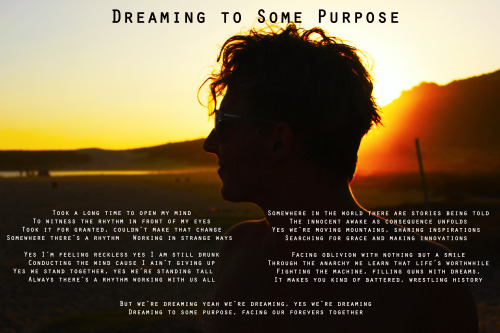 Dreaming to Some Purpose - lyrics