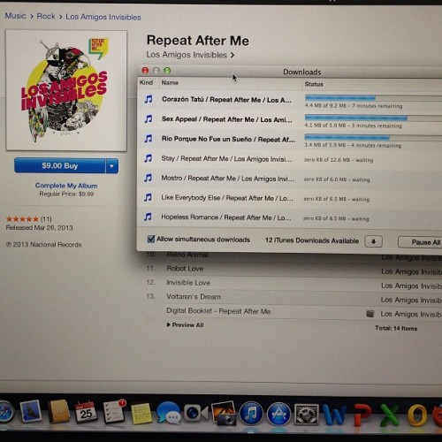 Descargando #RepeatAfterMe de los @amgsinvisibles #awesome #itunes #venezuela #gozadera