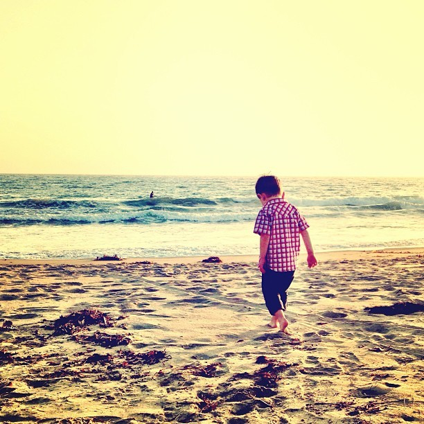 I love his journey  (at Ocean Park Beach)
