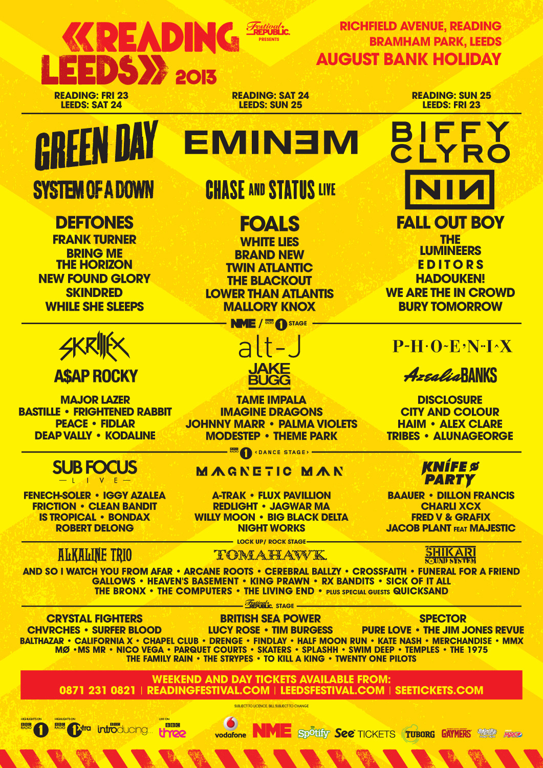 Reading and Leeds festival announcement see the addition of Crossfaith & Mallory Knox, plus While She Sleeps announced for the main stage! Who's got tickets already?