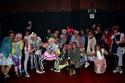 Group shot after the Kyary Pamyu Pamyu gig at Vk :)  St-Jans Molenbeek - Belgium - 9.2.2013