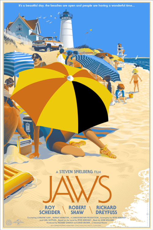 A super awesome new Jaws poster from the artists at Mondo. Click the image to see some of its incredible details.