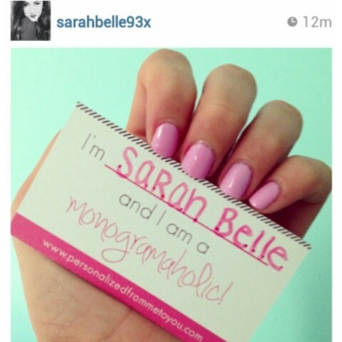 Are you a Monogramaholic??? Our favorite You Tube blogger @sarahbelle93x is!!! #personalizedfrommetoyou