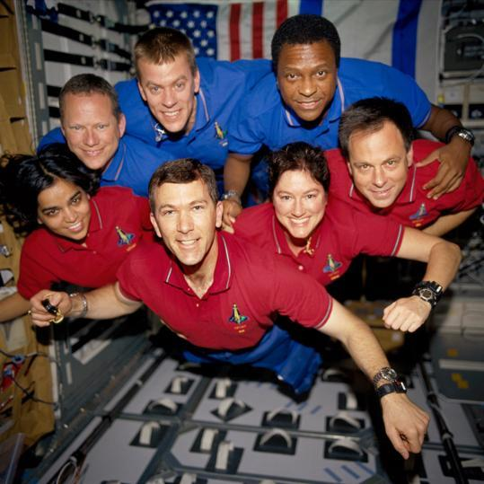 "obitoftheday:  Obit of the Day (Historical): Crew of the Shuttle Columbia (2003) On February 1, 2003 upon return from its 16-day mission, the space shuttle Columbia (STS-107), the first shuttle ever launched into orbit, disintegrated as it entered the Earth's atmosphere. All seven members of the Columbia's crew died in the explosion: Rick Husband  - Mission commander, age 46, 2nd shuttle mission William ""Willie"" McCool - Shuttle pilot, age 41, 1st shuttle mission Michael P. Anderson - Payload Commander, age 43, 2nd shuttle mission Kalpana Chalwa - Mission specialist and robotic arm operator, age 41, 2nd shuttle mission (first Indian American astronaut) David M. Brown - Mission specialist, age 46, 1st shuttle mission Laurel Clark - Mission specialist, age 41, 1st shuttle mission Ilan Ramon - Payload specialist, age 49, 1st shuttle mission (first Israeli astronaut and only non-American to be awarded the Congressional Space Medal of Honor) After a four-month search for debris across the entire state of Texas (only 38% of the shuttle was recovered) and a simultaneous investigation (led in part by former astronaut Sally Ride) it was determined that the shuttle exploded when part of the heat shield had been torn off the shuttle during launch. The extreme heat from re-entry breached the shuttle's hull and caused the explosion. Sources: NASA.gov and Wikipedia Top image, crew of STS-107, courtesy of NASA via Boston.com: Top row (l-r): D. Brown, W. McCool, M. Anderson Bottom row (l-r): K. Chalwa, R. Husband, L. Clark, I. Ramon Bottom image, mission patch for STS-107, courtesy of NASA  Also on Obit of the Day: The crew of the shuttle Challenger The obituary of Roger Boisjoly who tried to prevent the Challenger disaster The crew of Apollo I The retirement of the space shuttle program      Sad day for aeronautics."