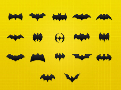 (via Dribbble - Batman Icon Collection – Freebie .psd by Benjamin Roesner | 6Wunderkinder)