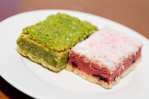 pistachio bar and sour cherry bar photo by roboppy