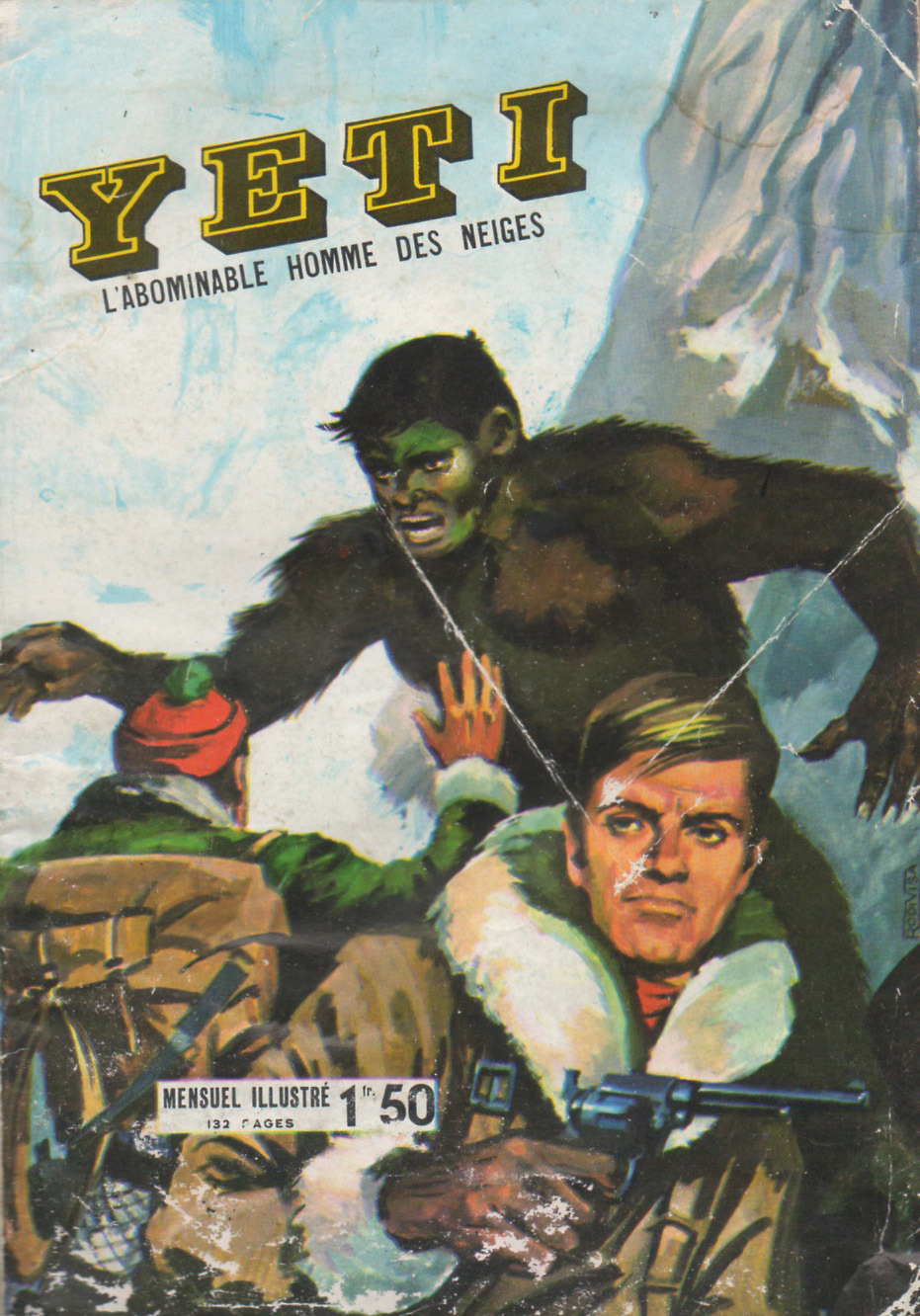 Yeti: L'Abominable Homme des NeigesEditions de Lutece N°1, 1968 via Deadlicious