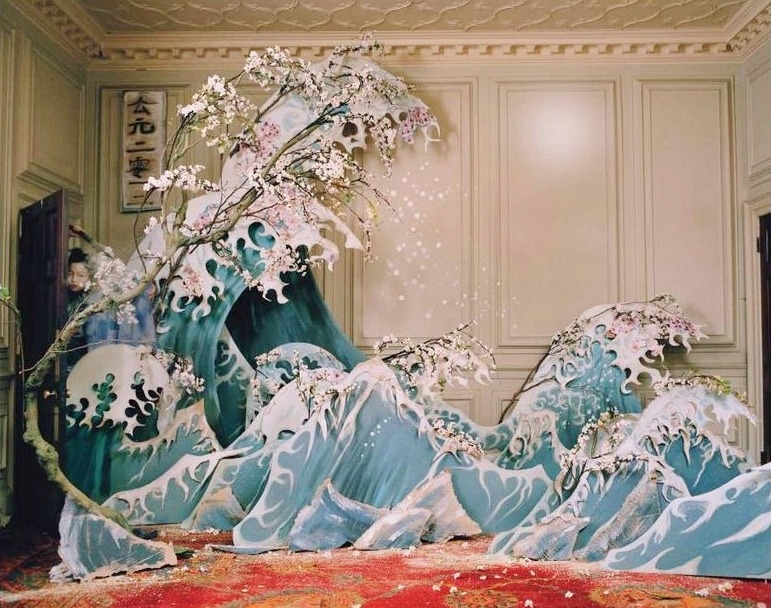 oliviateh-glamkitsch:  Xiao Wen Ju, Asia Chow, Jacob K, Liu Wen, March 2012, Millinery, Tim Walker, W Magazine .