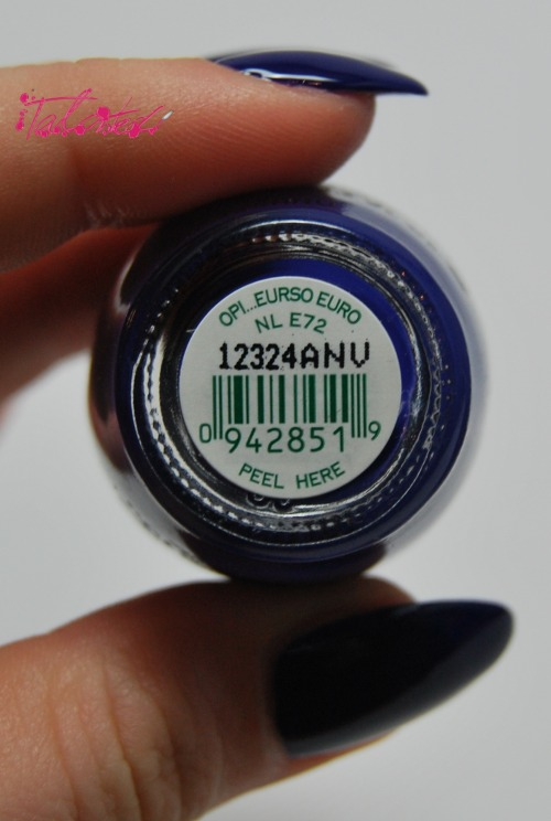 SWATCH: OPI 'Eurso Euro' The Euro Centrale collection is turning out to be one of my favourites, I fell in love with the names from the beginning but the polishes have grown on me after swatching, 'Eurso Euro' is a dark indigo creme polish. It is a lovely vibrant colour but it was quite a thin formula, I had to be careful not to flood my cuticles, but surprisingly it still only needed two coats. This is topped with Seche Vite. Lex :)